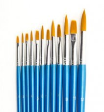 Artist Brush Set (6x flat, 6x round)