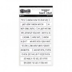 Dylusions chat sticker white