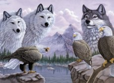 Painting by numbers WOLVES